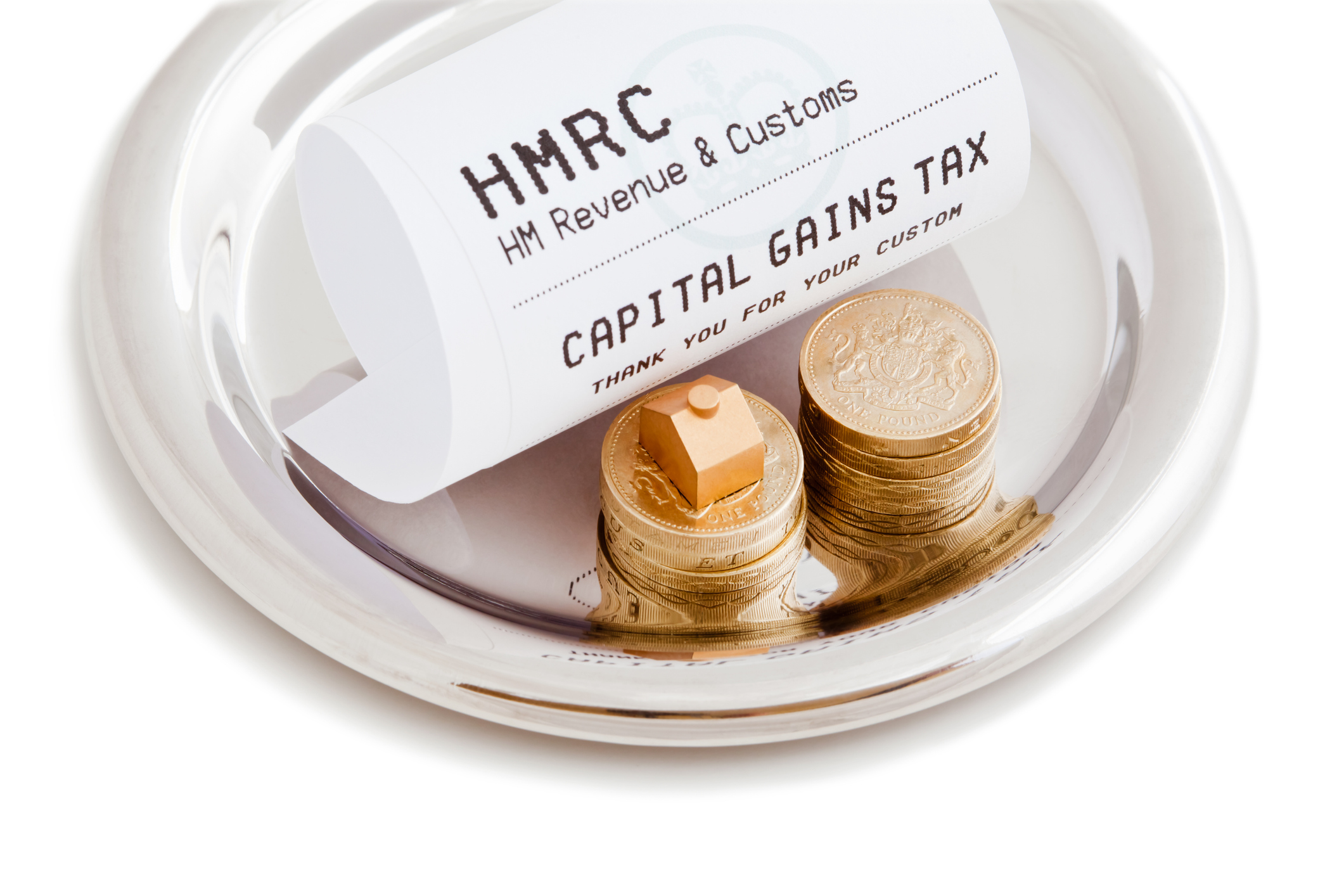Receipt from HMRC reading Capital Gains Tax